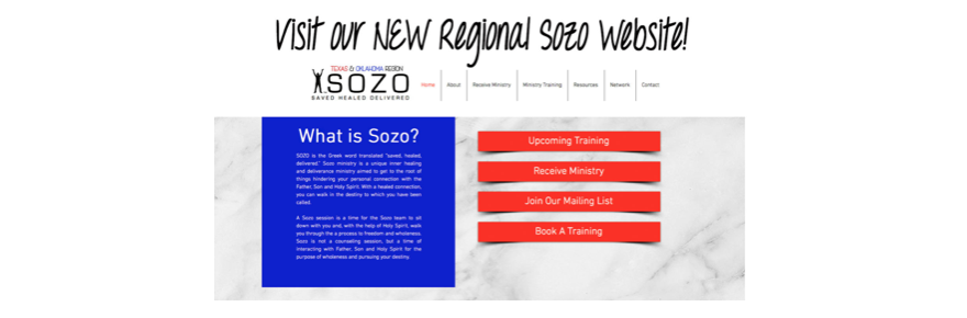 Visit our NEW Regional Sozo Page